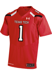 Under Armour Texas Tech Red Raiders Red Replica Football Jersey