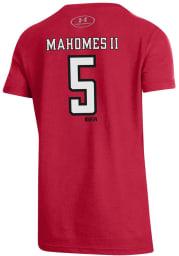 Patrick Mahomes Texas Tech Red Raiders Youth Red Mahomes Player Tee