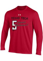 Patrick Mahomes Texas Tech Red Raiders Red Shooter Long Sleeve Player T Shirt
