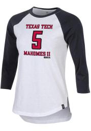 Patrick Mahomes Texas Tech Red Raiders Womens Black Mahomes Raglan Long Sleeve Player T Shirt
