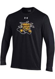 Under Armour Wichita State Shockers Black Cotton Long Sleeve T Shirt