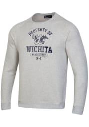 Under Armour Wichita Wind Surge Mens Grey Property Of Long Sleeve Crew Sweatshirt