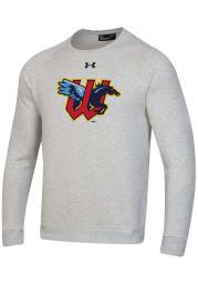 Under Armour Wichita Wind Surge Mens Grey Primary Logo Long Sleeve Crew Sweatshirt