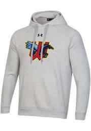 Under Armour Wichita Wind Surge Mens Grey Primary Logo Long Sleeve Hoodie
