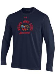 Under Armour Wichita Wind Surge Navy Blue Circle Baseball Long Sleeve T Shirt