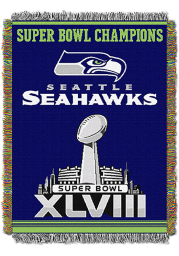 Seattle Seahawks 48x60 Commemorative Tapestry Blanket