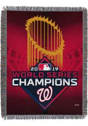 Washington Nationals 2019 World Series Champions Woven Tapestry Blanket