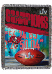 Tampa Bay Buccaneers Super Bowl LV Champions Woven Tapestry Blanket