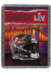 Tampa Bay Buccaneers 2-Time Super Bowl Champions Woven Tapestry Blanket