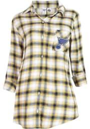 St Louis Blues Womens Navy Blue Plaid Forge Loungewear Sleep Shirt