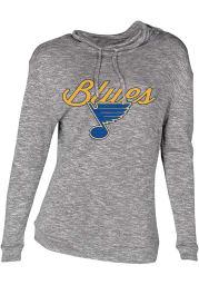 St Louis Blues Womens Grey Layover Crew Sweatshirt