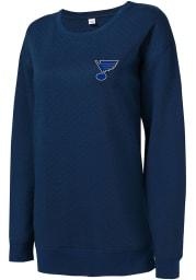 St Louis Blues Womens Navy Blue Lunar Crew Sweatshirt