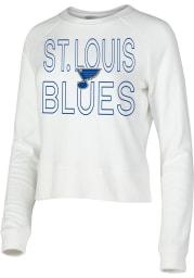 St Louis Blues Womens White Colonnade Crew Sweatshirt