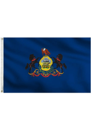 Pennsylvania 3x5 Blue Silk Screen Grommet Flag
