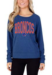 Boise State Broncos Womens Blue Mainstream Crew Sweatshirt