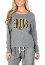 Boston Bruins Womens Grey Mainstream Crew Sweatshirt