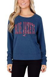 Columbus Blue Jackets Womens Navy Blue Mainstream Crew Sweatshirt