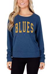 St Louis Blues Womens Navy Blue Mainstream Crew Sweatshirt