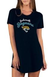 Jacksonville Jaguars Womens Black Marathon Loungewear Sleep Shirt