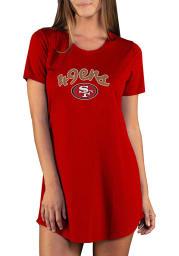 San Francisco 49ers Womens Red Marathon Loungewear Sleep Shirt