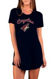 Arizona Coyotes Womens Black Marathon Loungewear Sleep Shirt