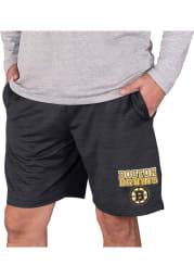 Boston Bruins Mens Charcoal Bullseye Shorts