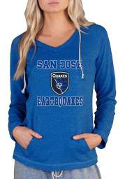 San Jose Earthquakes Womens Blue Mainstream Terry Hooded Sweatshirt