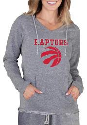 Toronto Raptors Womens Grey Mainstream Terry Hooded Sweatshirt