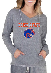 Boise State Broncos Womens Grey Mainstream Terry Hooded Sweatshirt