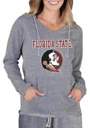 Florida State Seminoles Womens Grey Mainstream Terry Hooded Sweatshirt