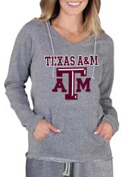 Texas A&M Aggies Womens Grey Mainstream Terry Hooded Sweatshirt