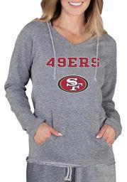 San Francisco 49ers Womens Grey Mainstream Terry Hooded Sweatshirt