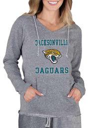 Jacksonville Jaguars Womens Grey Mainstream Terry Hooded Sweatshirt
