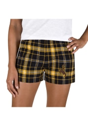 Wyoming Cowboys Womens Gold Ultimate Flannel Shorts