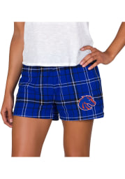 Boise State Broncos Womens Black Ultimate Flannel Shorts