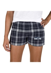 Seattle Seahawks Womens Grey Ultimate Flannel Shorts