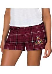 Arizona Coyotes Womens Black Ultimate Flannel Shorts