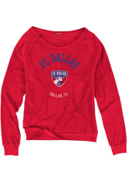 Mitchell and Ness FC Dallas Womens Red Hometown Champions Crew Sweatshirt