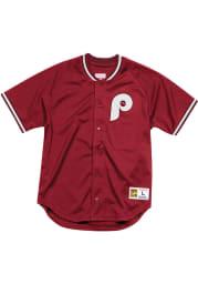 Philadelphia Phillies Mitchell and Ness Seasoned Pro Cooperstown Jersey - Maroon