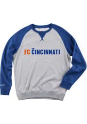 Mitchell and Ness FC Cincinnati Mens Grey Turf Fleece Long Sleeve Fashion Sweatshirt
