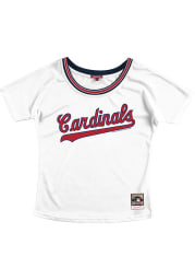 St Louis Cardinals Womens Mitchell and Ness Slouchy Mesh Scoop Fashion Baseball Jersey - White