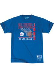 Mitchell and Ness Philadelphia 76ers Blue Baskets Short Sleeve Fashion T Shirt