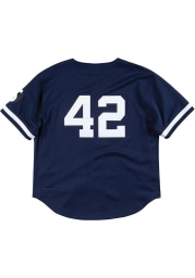 Mariano Rivera New York Yankees Mitchell and Ness Authentic Batting Practice Cooperstown Jersey - Navy Blue