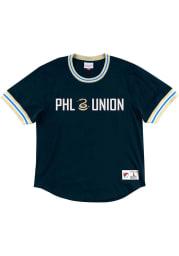 Mitchell and Ness Philadelphia Union Navy Blue Wild Pitch Short Sleeve Fashion T Shirt
