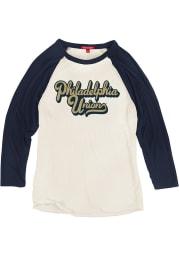 Mitchell and Ness Philadelphia Union Womens White Script Long Sleeve Crew T-Shirt