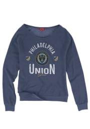 Mitchell and Ness Philadelphia Union Womens Navy Blue Pick-Up Game Crew Sweatshirt