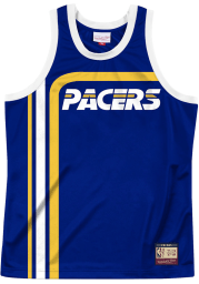Mitchell and Ness Indiana Pacers Mens Blue Team Heritage Short Sleeve Tank Top