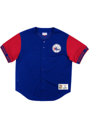 Mitchell and Ness Philadelphia 76ers Blue Pure Shooter Jersey