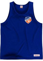 Mitchell and Ness FC Cincinnati Mens Blue Team Logo Short Sleeve Tank Top