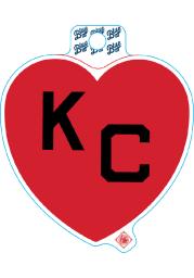 Kansas City Monarchs Red Heart Black KC Stickers